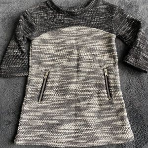 Grey tones sweater dress 12mo